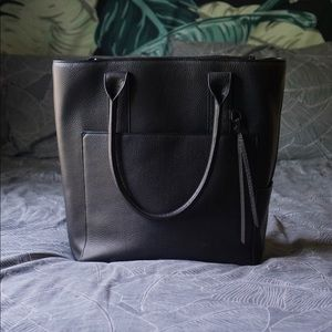 Dagne Dover Charlie Tote Onyx Leather